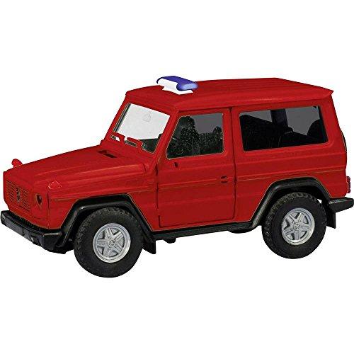 Herpa 013086Minikit: Mercedes-Benz G de Modelo (sin Texto Impreso/luz Azul Barra se incorporadas), Rojo