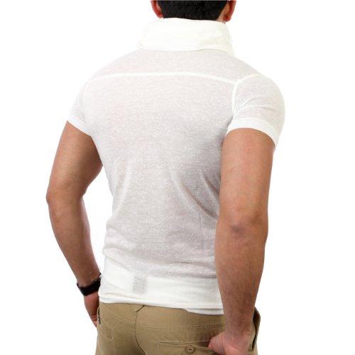 Reslad Herren Schalkragen T-Shirt RS-1159 Ecru