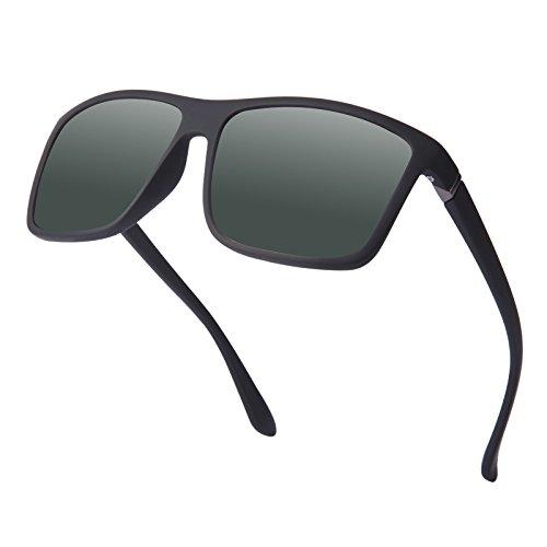 Polarisierte Sonnenbrille für Herren, Schick Klassische Retro Platz Polarisiert Sonnenbrille Damen Herren