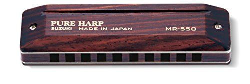 suzuki-mr550f-pure-harp-harmonica-diatonique-en-fa-10-trous-marron