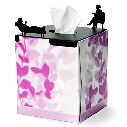 Artori Design |Dekorative Metallabdeckung für quadratische Taschentuchbox | Taschentuchhalter | Geschenke für Psychologen | Therapeuten | Psychotherapeuten | Schulpsychologen | Psychologie-Lehrer