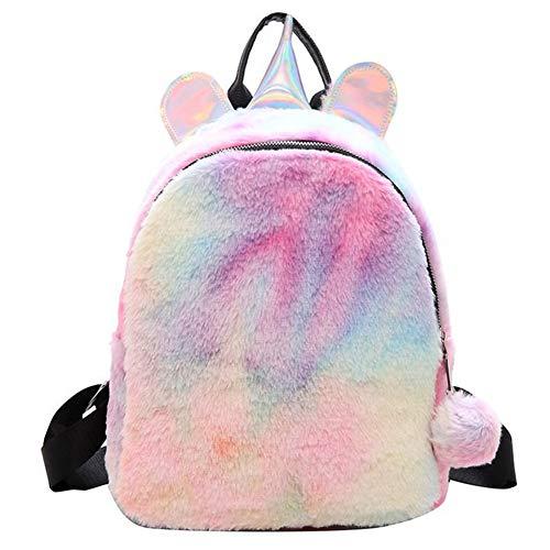 BETOY unicorno zaino ragazze zainetto bambini peluche Carino arcobaleno Zaino Scuola mini Unicorno bambini bambino studente di viaggio