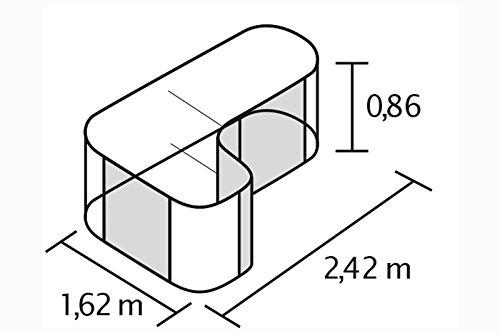 Vitavia Erweiterung Curve für Hochbeet Basic, Alu-blank -