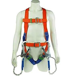 WXH Protección contra caídas Arnés de Seguridad para Todo el Cuerpo, Protección Personal para Todo el Cuerpo, Soporte para la Espalda Anillos en D Protección aérea para el Trabajo