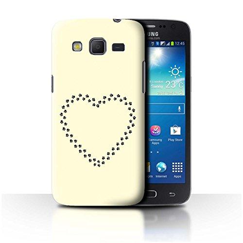 Stuff4® Hülle/Case für Samsung Galaxy Win Pro/G3812 / Herz/Pfoten Muster/Niedliche Cartoon-Katze Kollektion