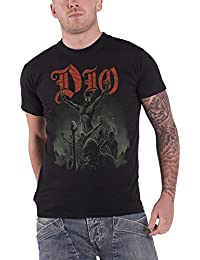 Dio T Shirt Stand up and Shout Demon Classic Band Logo Official Mens Black