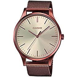 Casio Collection Reloj Analógico de Cuarzo Unisex con Correa de Acero Inoxidable – LTP-E140R-9AEF