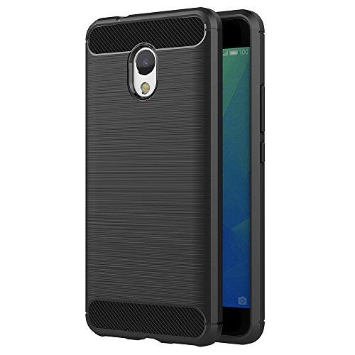 Cover Meizu M5S, AICEK Nero Custodia Meizu M5S Silicone Molle Black Cover per Meizu M5S Soft TPU Case