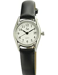Armband- & Taschenuhren Armbanduhren Spirale Womens Analogue Quartz Watch With Metal Strap 2130682