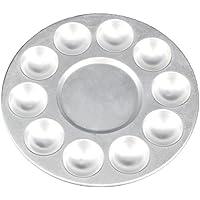 WEONE vernice Tavolozze Pallette dell'artista d'argento di plastica di plastica alluminio Round 10-bene
