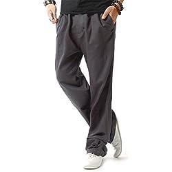 Hoerev - Pantalones para hombre, color darkgrey, talla XL