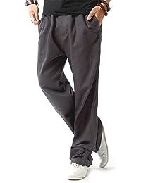 Veste en jean lin HOEREV pantalons de plage Casual hommes pantalons été