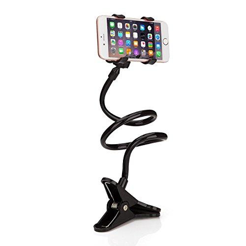 DaoRier Lazy soporte 360 grados Smartphone Soporte para teléfono móvil flexible Long de brazo universal Desktop Soporte Bracket para iPhone/Samsung Galaxy/Sony Otros Teléfonos de 3 - 7 pulgadas Negro negro negro talla única