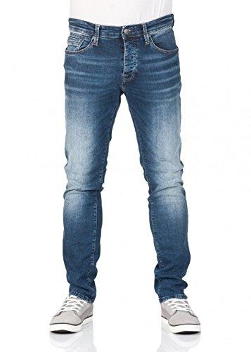 Mavi Herren Jeans YVES Slim Skinny Fit Indigo Blue Comfort Stretch, Größe:W29/L32, Farbe:23742 mid Indigo com Fit Indigo Blue Jeans