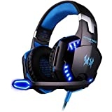 Cascos Auriculares Gaming con Micrófono ArkarTech Headset Auricular Gamer Juegos Jack 3,5mm Ultra-livianos Ajustable Estéreo LED y USB Para PC Computadoras