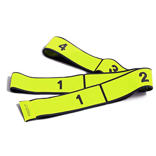 PINOFIT Stretch Band - Gymnastikband in DREI Stärken - Widerstandsband - Fitnessband - Therapieband - Stretch Loop (Yellow - Light) -