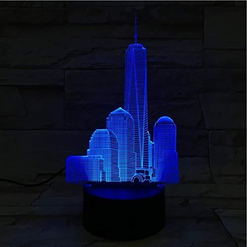 Cflegend 3d nachtlicht (touch + fernbedienung) led tischlampe flutlicht weiches licht statue kinderzimmer schlaf licht dekoration licht party licht 7 farbe usb (Computer Center, Schreibtisch)