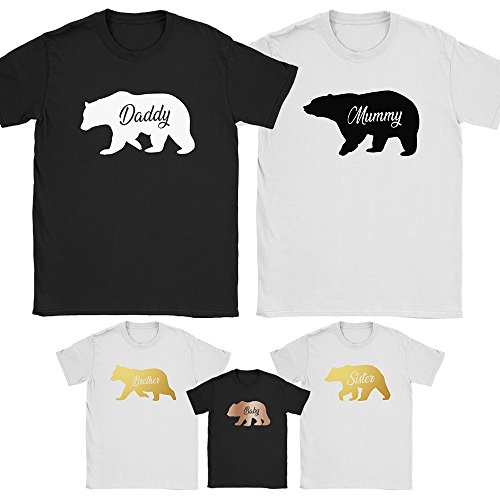 afac9c188 Family Bear T Shirts Mummy Daddy Mothers Fathers Mum Dad Day Baby Matching  Tops