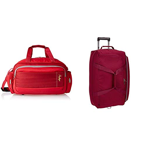 Skybags Cardiff Polyester 55 cms Red Travel Duffle + Cardiff Polyester 63.5...