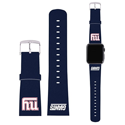 offizielle-nfl-einfarbig-new-york-giants-logo-blau-synthetik-lederband-schnalle-fur-42mm-strap-silve