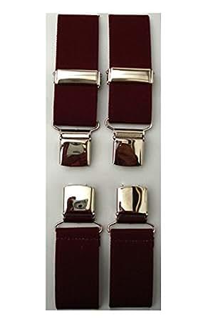 Burgundy Clip-on Braces