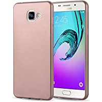 Samsung Galaxy A3 (6) 2016 Silikonhülle | JAMMYLIZARD Schutzhülle [Jelly Cover] Silikon TPU Slim Backcover Case Hülle Matt Metallic-Effekt, Blush Rose Gold