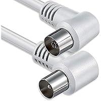 1aTTack - Cable coaxial para antena (conector coaxial F a conector coaxial F, doble apantallamiento, 75db 85db 100db 110 db 120 db 125 db)