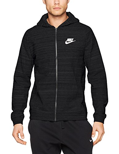 Nike Herren M Nsw Fz Av15 Knit Trainingsjacke mit Kapuze schwarz / (black / htr / black / white)