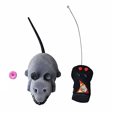 Ularma RC Simulation Plüsch Maus Interessante Streich Spielzeug Fernbedienung Mäuse (Grau)