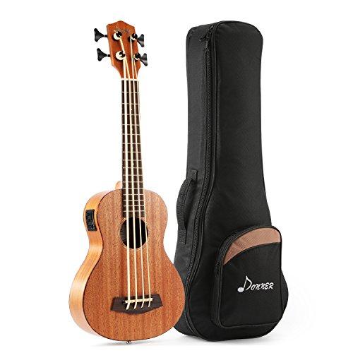 Donner DUB-1 30 pollice Ukulele Bass in solido legno di mogano con EQ Accordatore