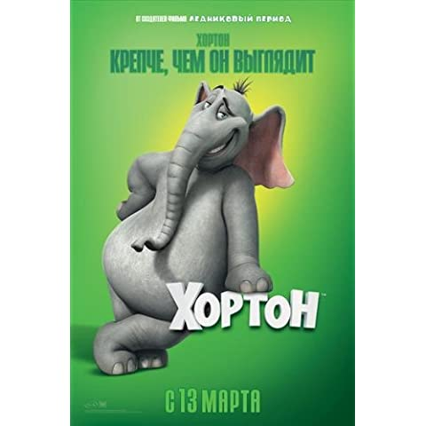 Dr, Seuss' Horton Hears a Who! Póster de película ruso C - 69 cm x 102 cm 27 x 40 de Jim Carrey Steve Carell Isla Fisher Dane Cook Jonah