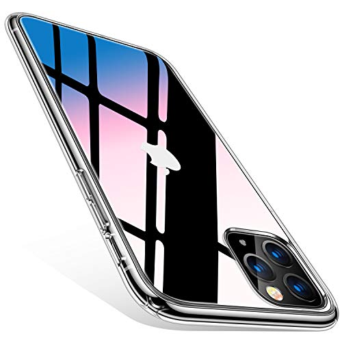 TORRAS Ultra Clear iPhone 11 Pro Hülle(5.8) Transparent & Anti Gelb Aufgerüstet Material Handyhülle iPhone 11 Pro Case Hart PC Back& Weich TPU Bumper Klar Schutzhülle für iPhone 11 Pro - Transparent