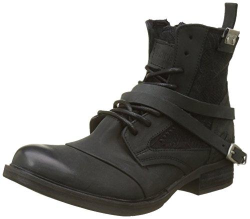 BUNKER Damen Koly Kurzschaft Stiefel, Schwarz (Black NF1), 37 EU