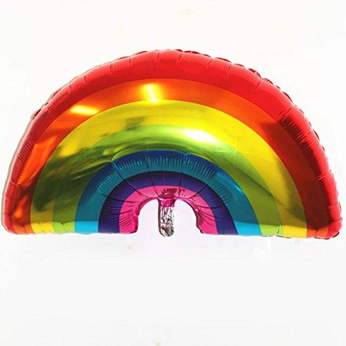 arcobaleno gonfiabile balloons-nacola 2PCS 90x 60cm grande formato arcobaleno palloncini elio palloncini per compleanno festa di nozze decorazione