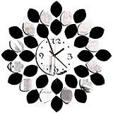 Fragrant DIY Arte 3D Wall Sticker Espejo Reloj de pared Moderno Lemon Design Office Decoración para el hogar