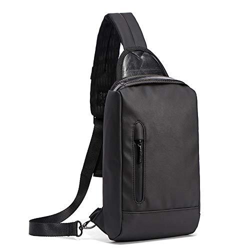 Männer Brusttasche Koreanische Version des Trends Umhängetasche Casual Canvas Messenger Bag Diebstahlschutz Sporttasche Outdoor-Rucksack Outdoor-Produkt, das Bett Schwimmen, Bett Erwachse -