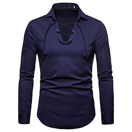BaZhaHei Herren Langarmshirt 2018 Herren Langarm Herbst Winter Solid Farben Tether Top Bluse Design...