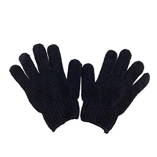 Pixnor – Peeling Handschuhe für den Körper, Bad, Dusche (schwarz)