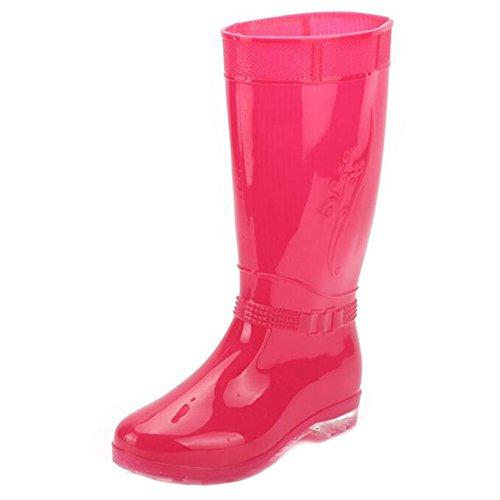 Outdoor-Frau Gummi regen Stiefel , pink , 41