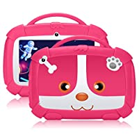 "7"" Inch Kids Tablet, Android 9.0 Tablet Google Certificated, Parental Control Mode, 1.5GHz Quad Core, 16GB, Kid-proof Case, WiFi, QIMAOO Kids Edition Tablets PC"