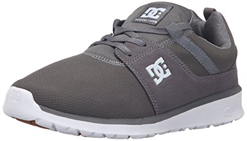 DC Heathrow Skate Shoe, Black/Grey/Green, 14 M US Pewter