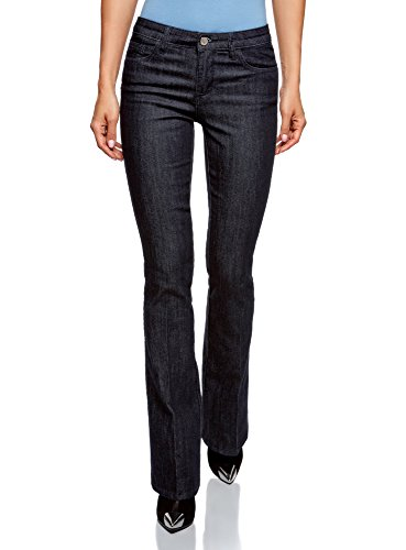 oodji Ultra Donna Jeans Basic Svasati Blu (7900W)