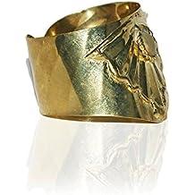 Zarood Golden Caramel Metal Cuff For Women