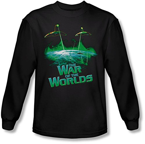 War Of The Worlds - - Männer Globale Angriff Langarm-Shirt In Black Black