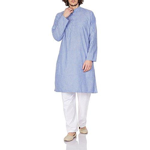 Herren Kostüm Indische Kurta Pyjama Lose Set Passen Weihnachtsgeschenke 46 ()