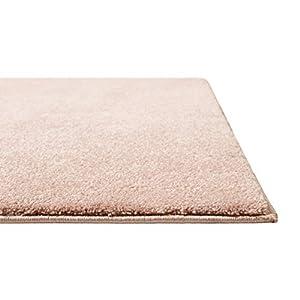 Homie Living   Kurzflor Teppich Super Soft, weich und kuschelig für Wohnzimmer, Schlafzimmer, Flur oder Kinderzimmer   Venice   Rosa   (160 x 230 cm)