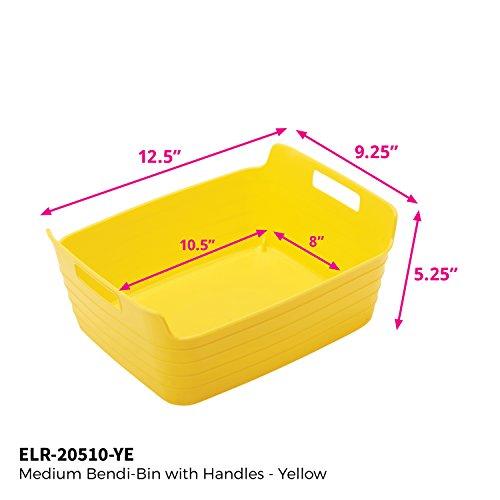 ECR4Kids bendi-bin con asas, M, amarillo, 1