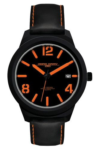 Jorg Gray - JG1950-14 - Montre Homme - Quartz Analogique - Bracelet Cuir Noir