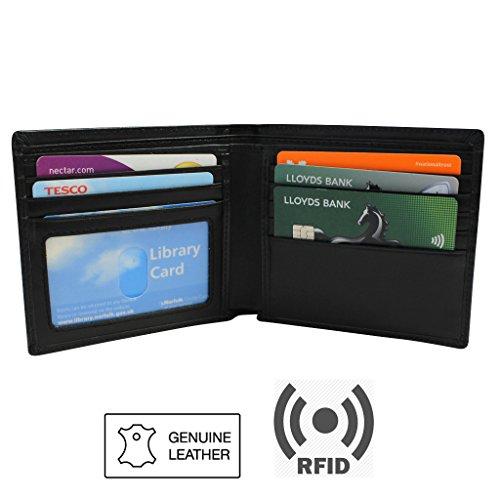 kurtzy-tm-portafoglio-in-vera-pelle-nera-blocco-rfid-anti-furto-protezione-carte-di-pagamento-contac