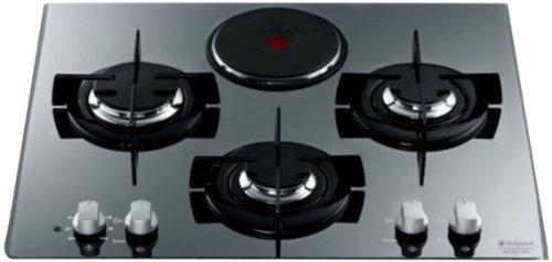 Hotpoint-Ariston TD 631 Sixhaice Plaque de Cuisson Mixte Electrique et Gaz Intégrable 60 cm Inox